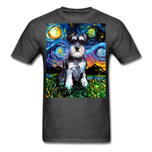Schnauzer Night Unisex Classic T-Shirt - heather black