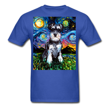 Load image into Gallery viewer, Schnauzer Night Unisex Classic T-Shirt - royal blue