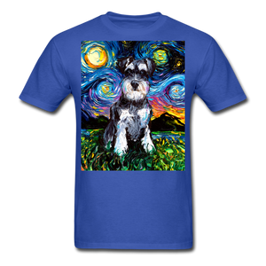 Schnauzer Night Unisex Classic T-Shirt - royal blue