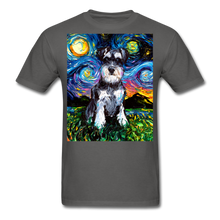 Load image into Gallery viewer, Schnauzer Night Unisex Classic T-Shirt - charcoal