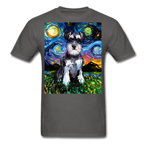 Schnauzer Night Unisex Classic T-Shirt - charcoal
