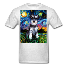 Load image into Gallery viewer, Schnauzer Night Unisex Classic T-Shirt - light heather gray
