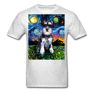 Schnauzer Night Unisex Classic T-Shirt - light heather gray