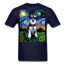 Load image into Gallery viewer, Schnauzer Night Unisex Classic T-Shirt - navy