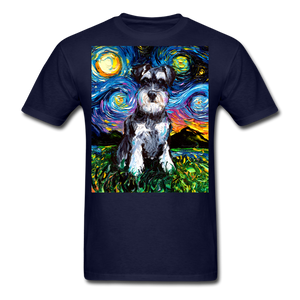 Schnauzer Night Unisex Classic T-Shirt - navy