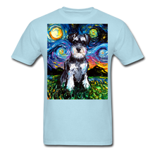 Load image into Gallery viewer, Schnauzer Night Unisex Classic T-Shirt - powder blue