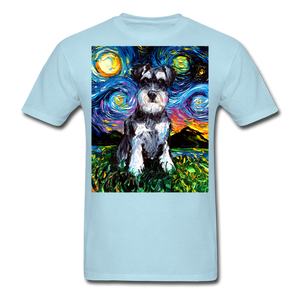 Schnauzer Night Unisex Classic T-Shirt - powder blue