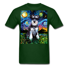 Load image into Gallery viewer, Schnauzer Night Unisex Classic T-Shirt - forest green