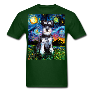 Schnauzer Night Unisex Classic T-Shirt - forest green