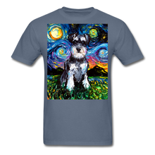 Load image into Gallery viewer, Schnauzer Night Unisex Classic T-Shirt - denim