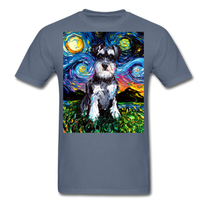 Schnauzer Night Unisex Classic T-Shirt - denim