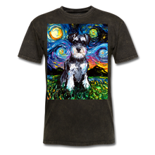 Load image into Gallery viewer, Schnauzer Night Unisex Classic T-Shirt - mineral black