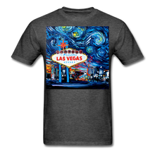Load image into Gallery viewer, van Gogh Never Saw Vegas Unisex Classic T-Shirt - heather black