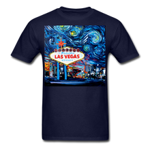 Load image into Gallery viewer, van Gogh Never Saw Vegas Unisex Classic T-Shirt - navy