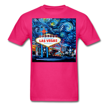 Load image into Gallery viewer, van Gogh Never Saw Vegas Unisex Classic T-Shirt - fuchsia