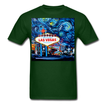Load image into Gallery viewer, van Gogh Never Saw Vegas Unisex Classic T-Shirt - forest green