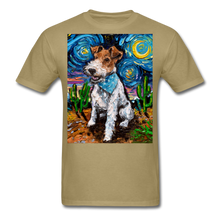 Load image into Gallery viewer, Wire Hair Fox Terrier Night Unisex Classic T-Shirt - khaki