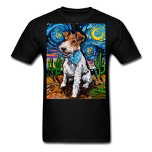 Load image into Gallery viewer, Wire Hair Fox Terrier Night Unisex Classic T-Shirt - black