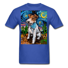 Load image into Gallery viewer, Wire Hair Fox Terrier Night Unisex Classic T-Shirt - royal blue