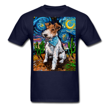 Load image into Gallery viewer, Wire Hair Fox Terrier Night Unisex Classic T-Shirt - navy