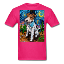 Load image into Gallery viewer, Wire Hair Fox Terrier Night Unisex Classic T-Shirt - fuchsia