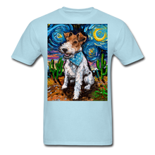 Load image into Gallery viewer, Wire Hair Fox Terrier Night Unisex Classic T-Shirt - powder blue