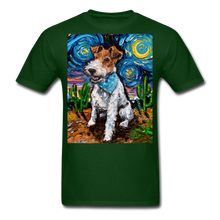 Load image into Gallery viewer, Wire Hair Fox Terrier Night Unisex Classic T-Shirt - forest green