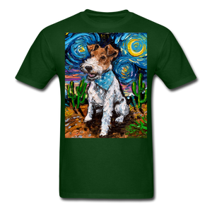 Wire Hair Fox Terrier Night Unisex Classic T-Shirt - forest green