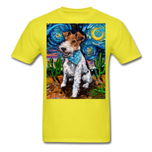 Load image into Gallery viewer, Wire Hair Fox Terrier Night Unisex Classic T-Shirt - yellow