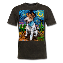 Load image into Gallery viewer, Wire Hair Fox Terrier Night Unisex Classic T-Shirt - mineral black