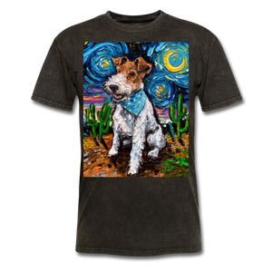 Wire Hair Fox Terrier Night Unisex Classic T-Shirt - mineral black