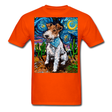 Load image into Gallery viewer, Wire Hair Fox Terrier Night Unisex Classic T-Shirt - orange