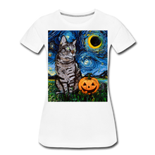 Load image into Gallery viewer, Tabby Halloween Women's Premium T-Shirt - white