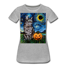 Load image into Gallery viewer, Tabby Halloween Women's Premium T-Shirt - heather gray