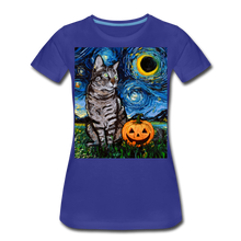 Load image into Gallery viewer, Tabby Halloween Women's Premium T-Shirt - royal blue