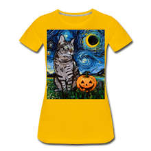 Load image into Gallery viewer, Tabby Halloween Women's Premium T-Shirt - sun yellow