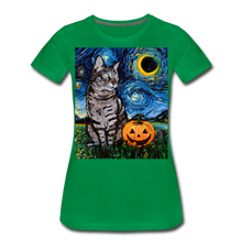 Load image into Gallery viewer, Tabby Halloween Women's Premium T-Shirt - kelly green