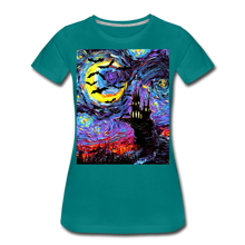 Load image into Gallery viewer, Transylvanian Night Women's Premium T-Shirt - teal