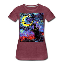 Load image into Gallery viewer, Transylvanian Night Women's Premium T-Shirt - heather burgundy