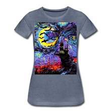 Load image into Gallery viewer, Transylvanian Night Women's Premium T-Shirt - heather blue