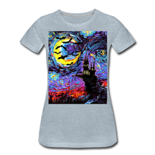 Load image into Gallery viewer, Transylvanian Night Women's Premium T-Shirt - heather ice blue