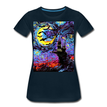 Load image into Gallery viewer, Transylvanian Night Women's Premium T-Shirt - deep navy