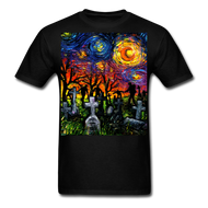 Starry Night of the Living Dead Unisex Classic T-Shirt - black