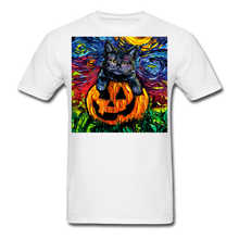 Load image into Gallery viewer, Halloween Kitten Unisex Classic T-Shirt - white