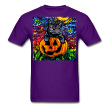 Load image into Gallery viewer, Halloween Kitten Unisex Classic T-Shirt - purple
