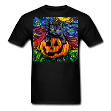 Load image into Gallery viewer, Halloween Kitten Unisex Classic T-Shirt - black