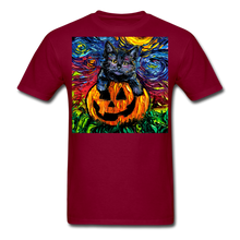 Load image into Gallery viewer, Halloween Kitten Unisex Classic T-Shirt - burgundy