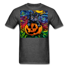 Load image into Gallery viewer, Halloween Kitten Unisex Classic T-Shirt - heather black