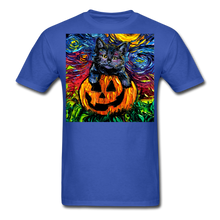 Load image into Gallery viewer, Halloween Kitten Unisex Classic T-Shirt - royal blue
