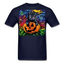 Load image into Gallery viewer, Halloween Kitten Unisex Classic T-Shirt - navy